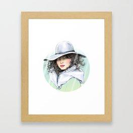 RAINY GIRL Framed Art Print