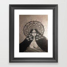 She Brings The Night Framed Art Print