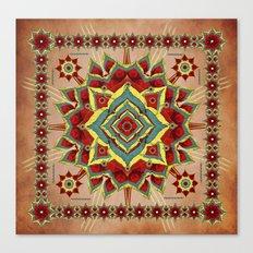 Desert Autumn Mandala Canvas Print