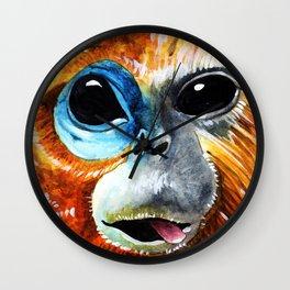 Golden Monkey/Golden-Headed Lion Tamarin Wall Clock