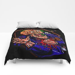 Vampire zombie  cartoon illustration Comforters