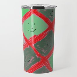 Cute pattern with smiling faces Travel Mug