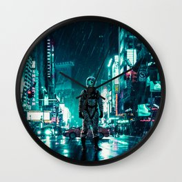 Another Rainy Night ( The Continuous Tale Of The Lost Astronauta) Wall Clock