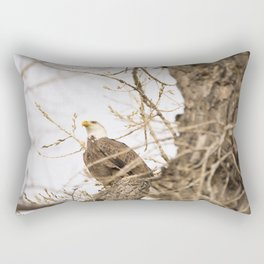 Bald Eagle Perched in Tree Rectangular Pillow