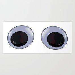 Googly Eyes Art Print