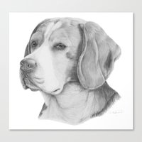 beagle Canvas Prints featuring Beagle by Doggyshop