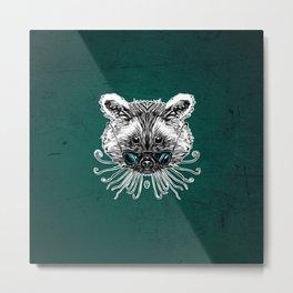 Cool Raccoon Metal Print
