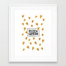 Pizza Queen Framed Art Print