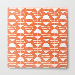Retro Mid Century Modern Abstract Mobile 653 Orange Metal Print