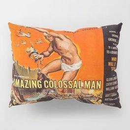 Colossalman, vintage horror movie poster Pillow Sham