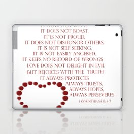 Love is patient love is kind 1 Corinthians 13: 4-7 Laptop & iPad Skin