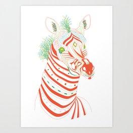 Robot Zebra Art Print