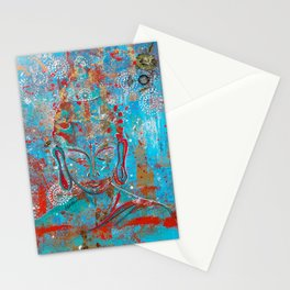 Bee Present Buddha Painting. Stationery Cards