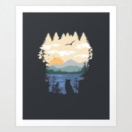 Mountain Lion Wilderness Art Print