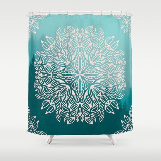Mandala Forest Dawn Shower Curtain By Cascadia