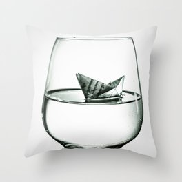 sea in the glass Throw Pillow