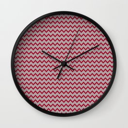 University of Alabama colors chevron zig zag minimal pattern college football sports Wall Clock