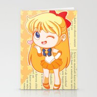 sailor venus Stationery Cards featuring Sailor Venus by strawberryquiche