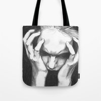 pain Tote Bags featuring Pain by ArtLm