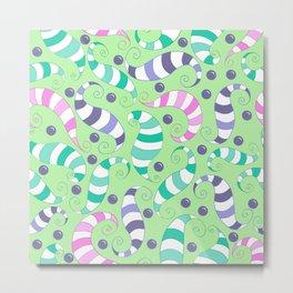 Crazy Twisters Pattern Print Metal Print