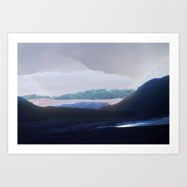 on the way to scotland Art Print