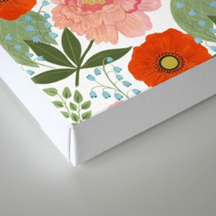 Pions and Poppies Canvas Print