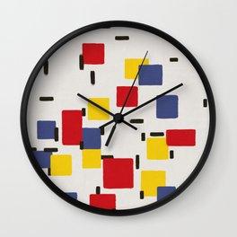 Abstract Mondrian Style Art II Wall Clock