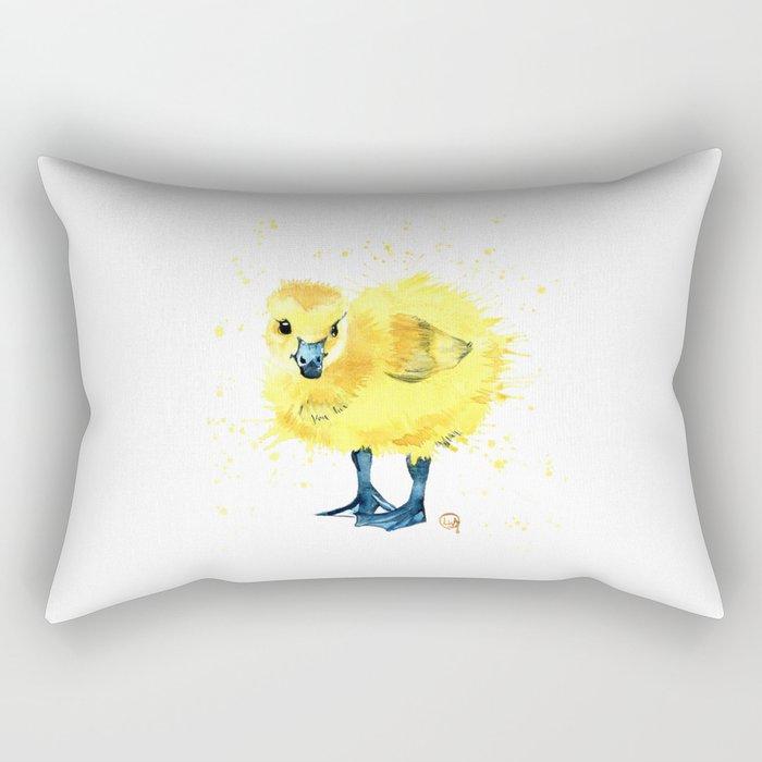 Baby Duck - Canada Goose Gosling Rectangular Pillow