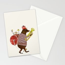 one bear band Stationery Cards