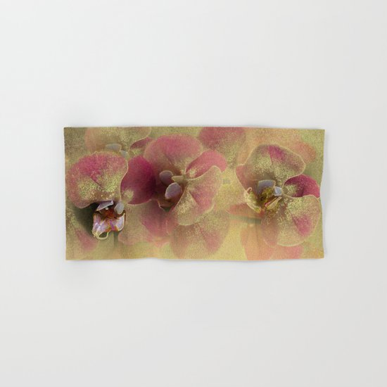 The mystery of orchid(gold). Hand & Bath Towel