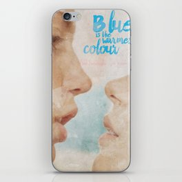 Blue is the warmest colour - chapter one - hand-painted movie poster - iPhone Skin