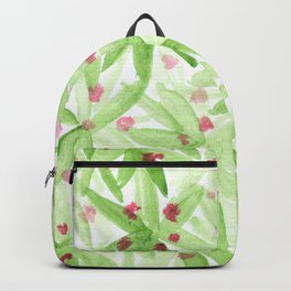 Botanical flowers and leaves Backpack