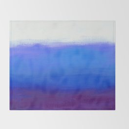 Blue Plum Minimalist Painting Throw Blanket