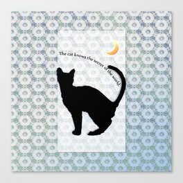 cat_moon Canvas Print