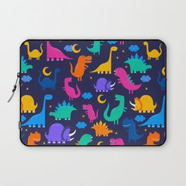 Dinosaurs At Night Rainbow Dinosaur Kids Pattern Laptop Sleeve