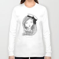 ships Long Sleeve T-shirts featuring Loose Lips Sink Ships by Kirbee Lawler