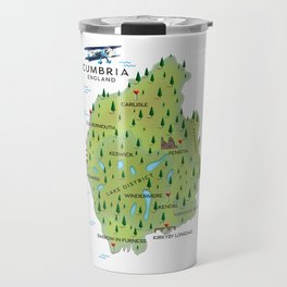 Cumbria England Map Travel Mug