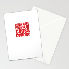 I Only Date People for the Long Run Funny T-shirt Stationery Cards