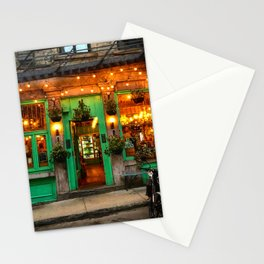 Green Cafe in Old Montreal Stationery Cards