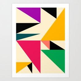 Triangled 08 Art Print