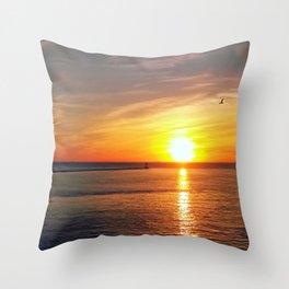 Pastel sunset over Chesapeake Bay Throw Pillow