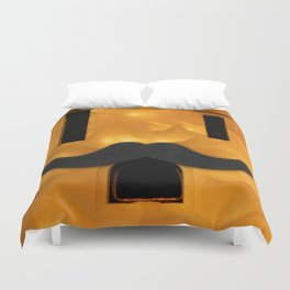 Electric Outlet - Gold Bokeh Moustache Duvet Cover