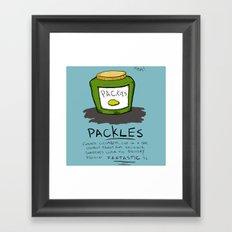 Packles Framed Art Print
