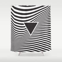 lsd Shower Curtains featuring Wave IV by fly fly away