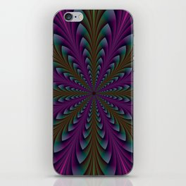 Spear Points in Purple and Green iPhone Skin