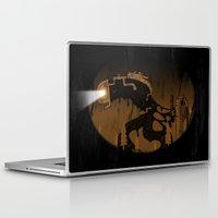 oil Laptop & iPad Skins featuring oil monster by ErDavid