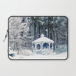 Snowy Gazebo Laptop Sleeve