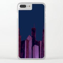 City Skyline Clear iPhone Case