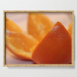 Orange Serving Tray