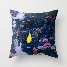 Koi Pond Trip Throw Pillow
